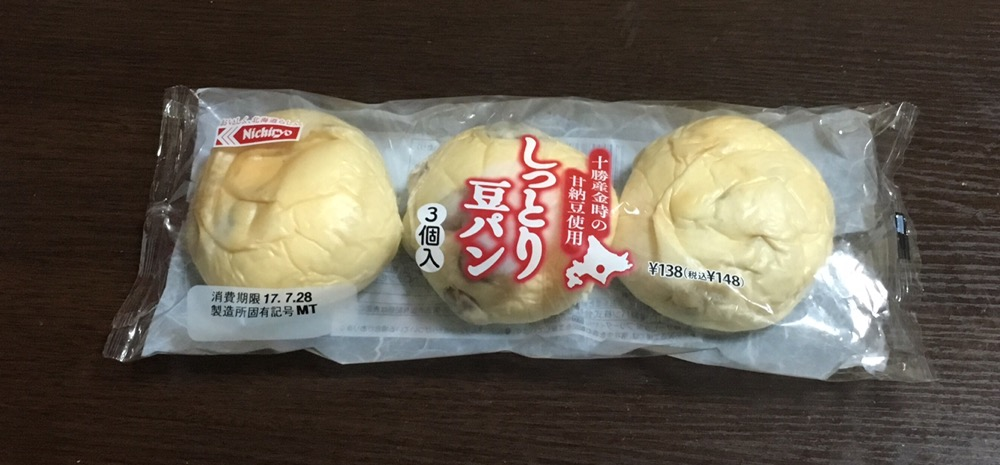 しっとり豆パン3個入り148円税込