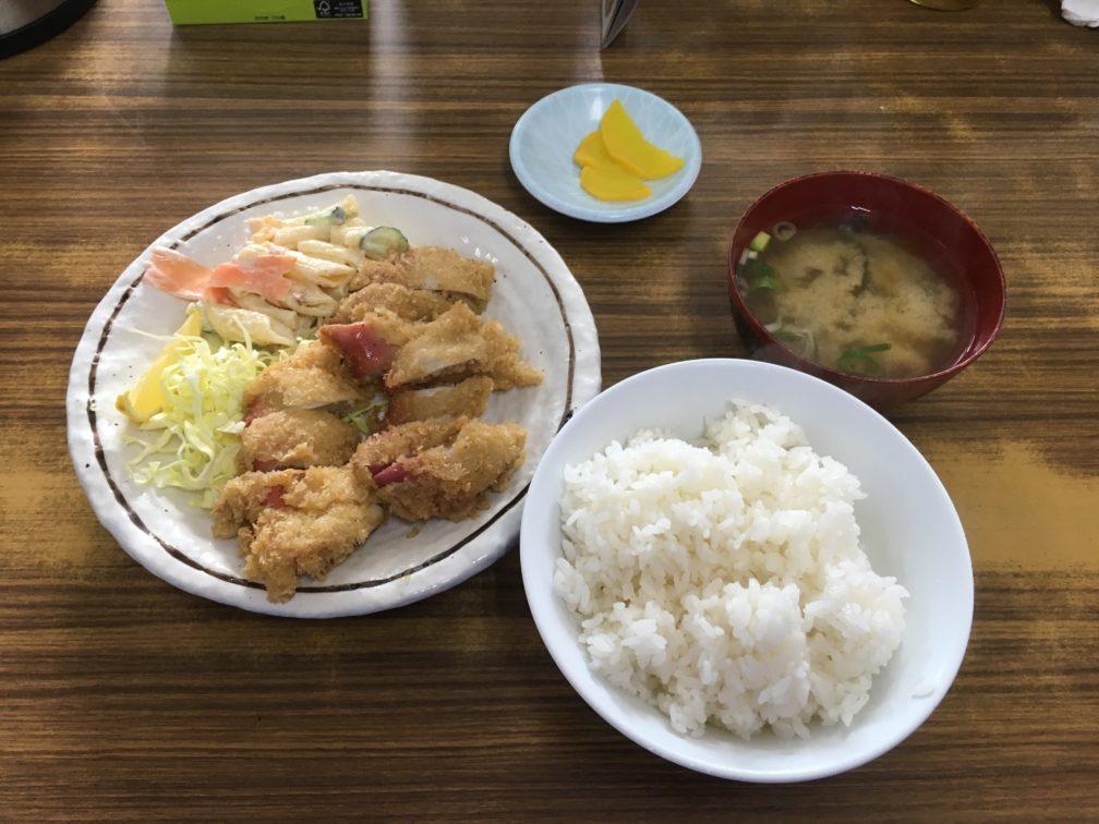 ホッキフライ定食