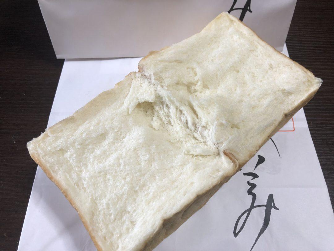 開いた食パン
