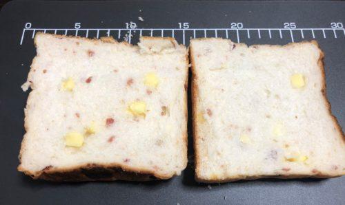 角食キューブのベーコンビッツとチーズの食パン