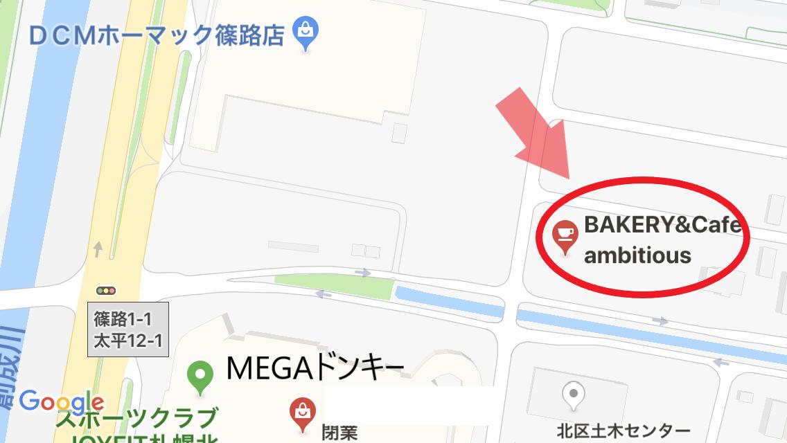 パン屋 アンビシャスの地図