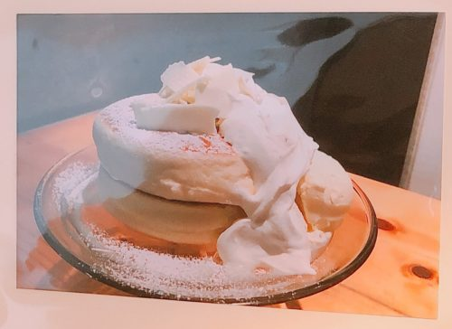 円山ぱんけーきの白のぱんけーき
