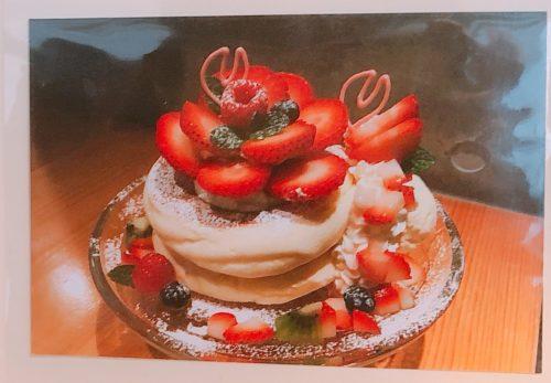 円山ぱんけーきのいちごのお花ぱんけーき