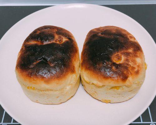 焼いた美瑛選果のコーンパン2個