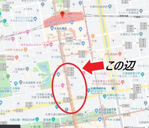 札幌駅前地図