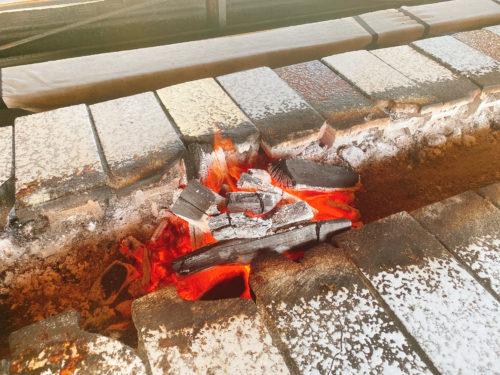 東千歳バーベキューの炭の炉