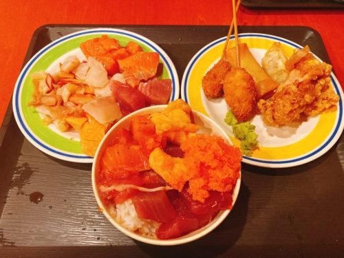 海鮮丼 海鮮盛り、揚げ物