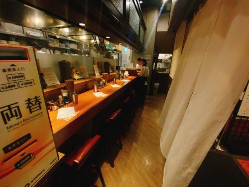 銀座蝋燭屋札幌店のカウンター席