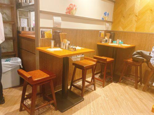 銀座蝋燭屋札幌店のテーブル席