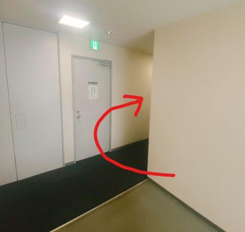 ふーも札幌店へエレベーターからでた