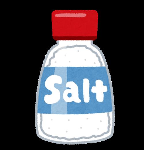 Saltと表示の瓶のイラスト