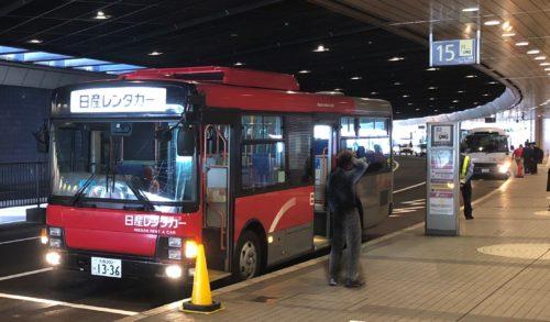 新千歳空港 レンタカープールに行くためのバスのりば
