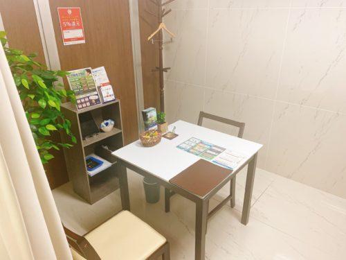 メンズクリア北海道札幌店のカウンセリング室