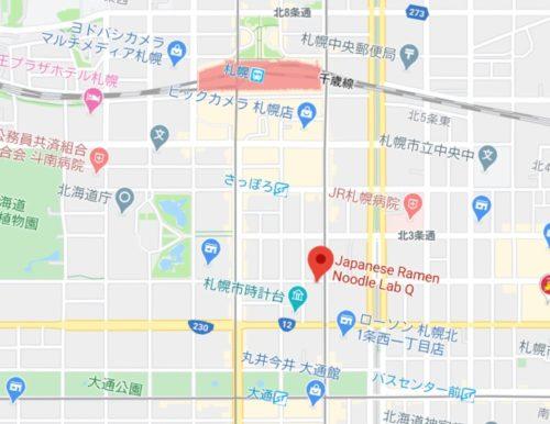 ラボQまでの行き方の地図
