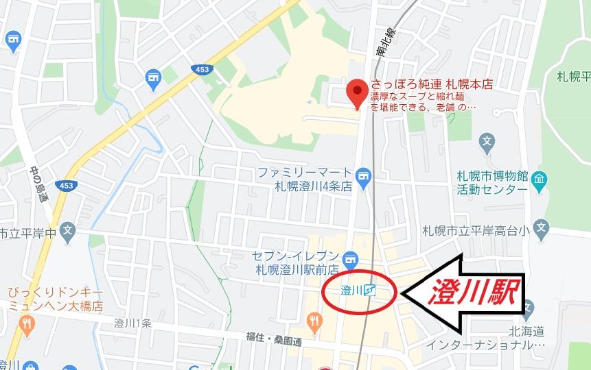 純連本店までの地図