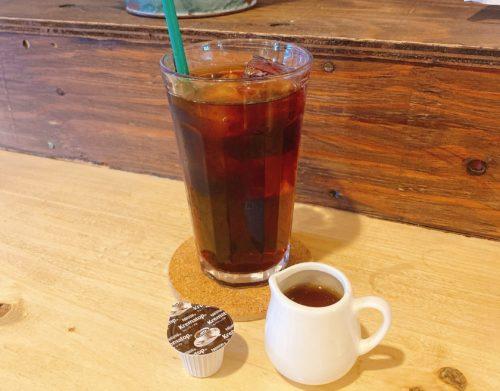 うまごやカフェのアイスコーヒー