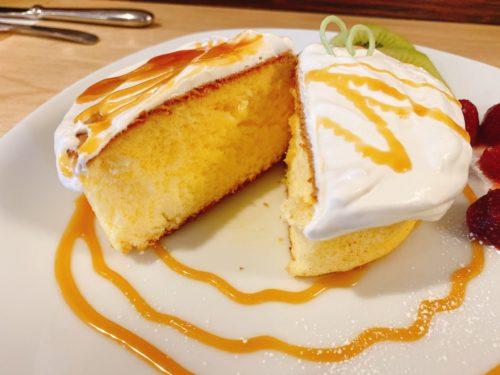 うまごやカフェのパンケーキ